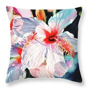 Hawaiian Hibiscus Throw Pillow