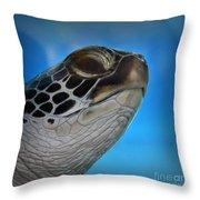 Hawaiian Honu Throw Pillow