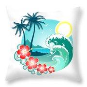 Hawaiian Island 2 Throw Pillow
