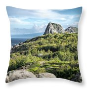 Hawaiian Island Drive Throw Pillow