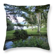 Hawaiian Lagoon Throw Pillow