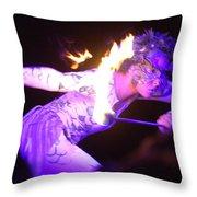 Hawaiian Luau Fire Eater 2 Throw Pillow