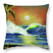 Hawaiian Moon #399 Throw Pillow
