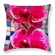 Hawaiian Orchid 1 Throw Pillow