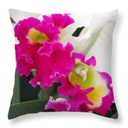 Hawaiian Orchid 10 Throw Pillow