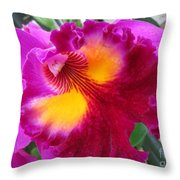 Hawaiian Orchid 2 Throw Pillow