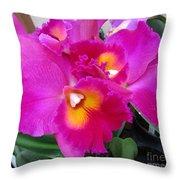 Hawaiian Orchid 3 Throw Pillow