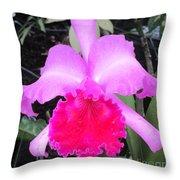 Hawaiian Orchid 33 Throw Pillow