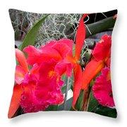Hawaiian Orchid 37 Throw Pillow