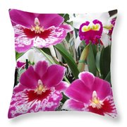 Hawaiian Orchid 5 Throw Pillow