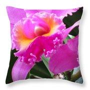 Hawaiian Orchid 6 Throw Pillow