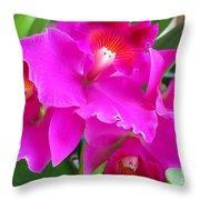 Hawaiian Orchid 8 Throw Pillow