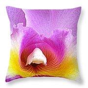 Hawaiian Orchid 9 Throw Pillow