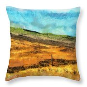 Hawaiian Pasture Throw Pillow