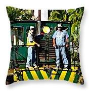 Hawaiian Railway Throw Pillow