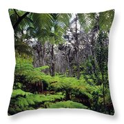 Hawaiian Rainforest Throw Pillow