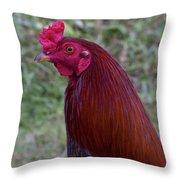 Hawaiian Rooster Throw Pillow
