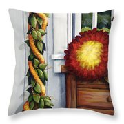 Hawaiian Still Life Panel Throw Pillow