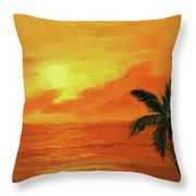 Hawaiian Sunset #27 Throw Pillow