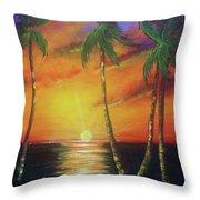 Hawaiian Sunset  #329 Throw Pillow