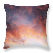 Hawaiian Sunset Clouds Throw Pillow
