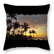 Hawaiian Sunset Design Throw Pillow