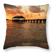 Hawaiian Sunset Hanalei Bay 1 Throw Pillow