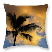 Hawaiian Sunset Hanalei Bay 5  Throw Pillow
