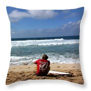 Hawaiian Surfer Throw Pillow