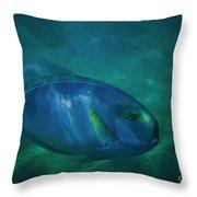 Hawaiian Tang Fish Throw Pillow