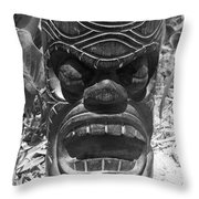 Hawaiian Tiki God Ku Throw Pillow