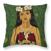 Hawaiian Time Throw Pillow