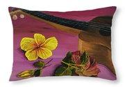 Hawaiian Ukulele Throw Pillow