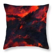 Hawaiian Volcano Lava Flow Throw Pillow