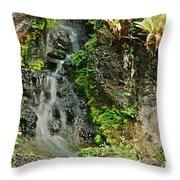 Hawaiian Waterfall Throw Pillow
