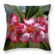 Hawaiian Flowers Throw Pillow