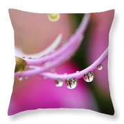 Hawaiin Rain Drops Throw Pillow