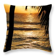 Hawaiin Sunset Throw Pillow