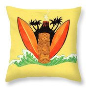 Hawiian Friday Throw Pillow