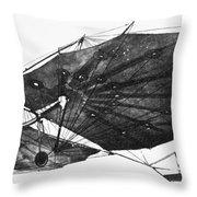 Hawk Glider, 1896 Throw Pillow