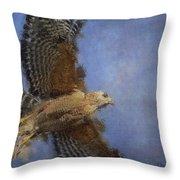 Hawk In Flight Throw Pillow