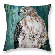 Hawk Throw Pillow by Maria Langgle