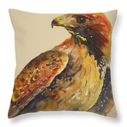 Hawk Messenger Throw Pillow