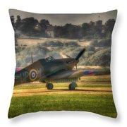 Hawker Hurricane Mk 1 R4118 Takeoff Throw Pillow