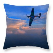 Hawker Hurricane On Dawn Patrol Throw Pillow