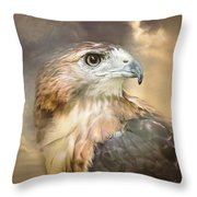 Hawkeyed Throw Pillow