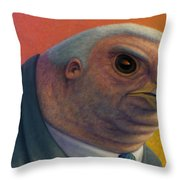 Hawkish Throw Pillow by James W Johnson