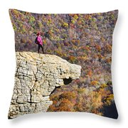 Hawksbill Crag In Autumn Throw Pillow