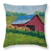 Hay Bales In Morning Light Throw Pillow