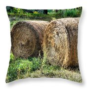 Hay Bay Rolls 3 Throw Pillow